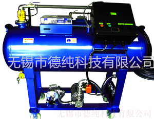 Fixed automatic oil collector & separator with induced gas flotation